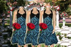 Items similar to Blue Zebra Bridesmaid Dress on Etsy Unique Dresses, Bridesmaid Dresses, Wedding Ideas, Summer Dresses, Trending Outfits, Unique Jewelry, Handmade Gifts, Blue, Etsy