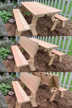 Sometimes you need a picnic table but other times you could use just seating. Our Universal picnic table can be both! Built of beautiful Western Red Cedar to last for decades. Explore the possibilities. Diy Picnic Table, Camping Table, Folding Picnic Table Plans, Diy Table, Table And Bench Set, Diy Bench, Woodworking Bench, Woodworking Supplies, Diy Wood Projects