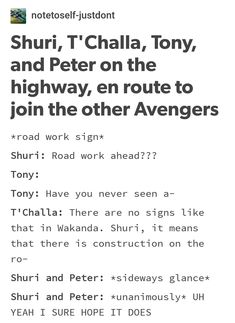 Omigosh I love Shuri and Peter headcanons like this!!!