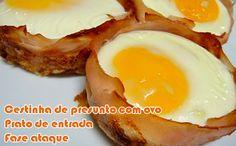 Receita de cestinha de presunto de peru com ovo para o prato de entrada ou café da manhã da fase ataque dukan.