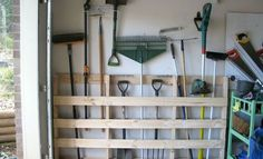 DIY storage solutions for a well organized garage - home and decor - DIY -. - DIY storage solutions for a well organized garage – home and decor – DIY storage solutions for - Garage Storage Solutions, Diy Garage Storage, Garden Tool Storage, Storage Hacks, Garden Tools, Pallet Storage, Diy Pallet, Pallet Tool, Garage Shelving