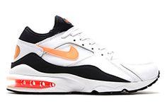 #Nike Air Max 93 Black/Hyper Crimson #sneakers
