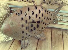 Rustic Outdoor  Fish Candle Holder: Hanging or Stationary. $23.00, via Etsy.