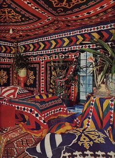 Seret & Sons. Pakistani, Gulgari style wedding tent. Vogue, 1971