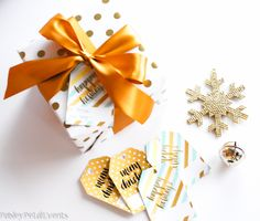 Gold and Mint Free Printable Gift Tags for Christmas gift-giving needs