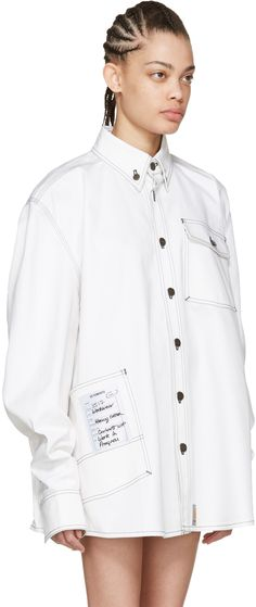 Vetements: White Carhartt Edition Workwear Shirt | SSENSE