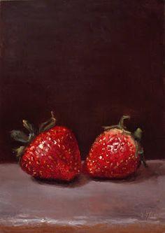Oil paintings by Abbey Ryan , strawberrys
