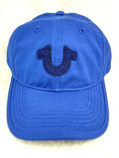 bca0133d40c8a True Religion Hat Adjustable Twilight Blue Horseshoe New With Tags Leather  Strap. True ReligionBaseball ...
