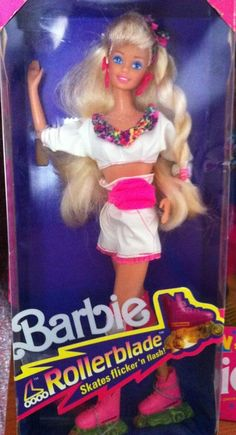 1991 Rollerblades Barbie - can still remember the smell of the rollerblades when lighting them up