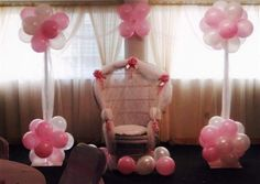 Love the idea of a chair decorated for the mom-to-be for opening presents, etc. Could use the glider