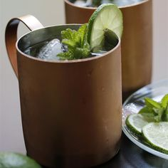 Simple Moscow Mule | This is a vodka version of a dark and stormy.