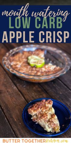 This low carb apple crisp is the perfect no-fail dessert for you and your family to indulge in! Warm, thinly sliced Granny Smith Apples baked with a sweet cinnamon filling and a layer of almond flour crumb topping. This Keto low carb recipe from Butter Together Kitchen looks beautiful on the table, too! Your family has got to try this apple crisp! #keto #apple #applecrisp #dessert #dessertfoodrecipes #ketorecipes #ketodiet #ketogenic