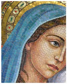 Your place to buy and sell all things handmade Mosaic Glass, Mosaic Tiles, Stained Glass, Glass Art, Pintura Colonial, Sicis Mosaic, Jesus E Maria, Mosaic Portrait, Mosaic Artwork