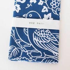 夜長堂 手ぬぐい ロマンバード(紺) - 鳥モチーフ雑貨・鳥グッズのセレクトショップ:鳥水木 #bird #dyed #fabric #torimizuki Office Supplies