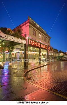 Pike Street Farmers Market in Seattle,Washington