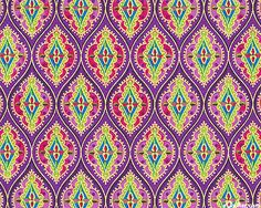 Springtime Sari in Grape/Gold from the 'Bollywood Bliss' collection by Jane Spolar for Northcott Fabrics