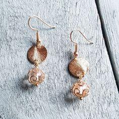 Gold Vermeil Dangle Earrings 236M