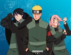 Naruto Uzumaki, Naruto Oc, Boruto, Kawaii, Team 7, Gabriel, Anime, Drawings, Art