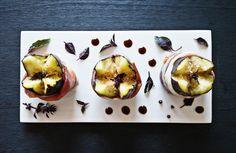 black figs, serrano ham, purple basil / Matt Wood
