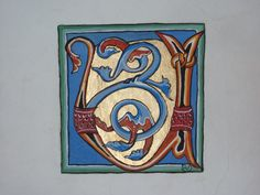 """calligraphie  (stage Is Sur Tille 21) Sur parchemin, avec techniques """"de l'époque"""" :  travail fascinant !"""