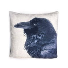 Raven Realm Canvas Cushion Cover