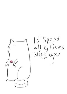 I'd spend all 9 lives with you.