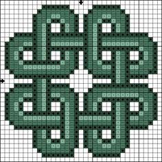 Killer Crafts & Crafty Killers--Cross Stitched Celtic Knot pattern