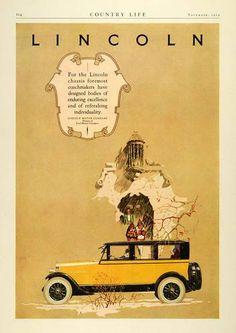 1924 Original Vintage Lincoln Motor Car Art Print Ad b in Collectibles, Advertising, Automobiles, American, Other American Automobile Ads 1920s Advertisements, 1920s Ads, Vintage Ads, Vintage Posters, Vintage Graphic, Vintage Stuff, Vintage Designs, Buick Sedan, Lincoln Motor Company