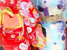 Detail of colourful kimonos