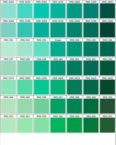 ID Card - Coimbatore - Ph: 97905 Pantone Color Chart Green Color Names, Seafoam Green Color, Green Colour Palette, Green Colors, Emerald Green, Green Color Chart, Blue Palette, Emerald Color, Turquoise Color