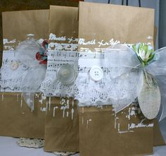 Cottage Chic Gift Bag and Tag pretty packaging