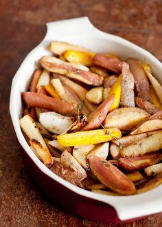 Cider-Mustard Glazed Roasted Root Vegetables