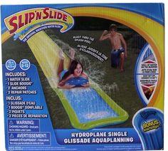 Slip N Slide Water Single Slider Backyard Play Kids Fun Hydroplane Boy and Girl