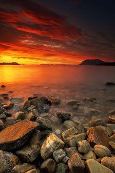 Late night light. Nipen, Troms Fylke, Norway.