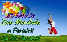 20 Martie Ziua Mondiala a Fericirii Sa fiti fericiti! 8 Martie, School, Fit, Sports, Hs Sports, Shape, Sport
