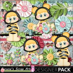 Busy Little Bees digital scrapbooking kit https://www.mymemories.com/store/display_product_page?id=SESA-CP-1502-81518&r=syrenasscrapart