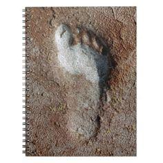 foot print spiral notebook