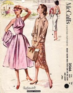 McCall's 3566; Bust 34/Waist 28; acquired 10/7/12 on eBay for 12.51