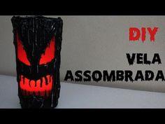 DIY: Vela Assombrada (Porta Velas para Decoração Halloween) - YouTube