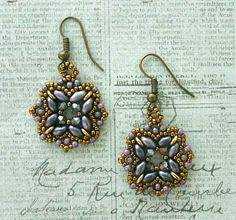 Linda's Crafty Inspirations: Rani Earrings - Orchid Aqua