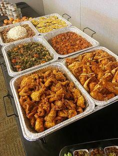 Mini Soulfood buffet line Reception Food, Food Goals, I Foods, Lunch Foods, Food Cravings, I Love Food, Soul Food, Yummy Food, Tasty