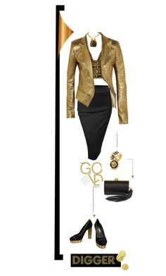 """Gold Digger"" by fl4u ❤ liked on Polyvore featuring Chanel, Alexander McQueen, Versace, Yves Saint Laurent, Haider Ackermann and Doublju"