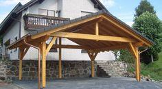 Prístrešok pre rodinné / športové / alebo jednoducho Vaše auto.  WoodSK - Meníme Sny Na Realitu Gazebo, Pergola, Boat Shed, Carport Designs, Post And Beam, Woodworking Tips, Outdoor Structures, Cabin, House Styles