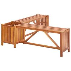 Find Outdoor Benches on Sale at Wayfair up to off through April Find gorgeous Outdoor Benches at Wayfair for your backyard or patio. Wooden Garden Benches, Wooden Decks, Garden Levels, Corner Bench, Patio Planters, Corner Garden, Acacia Wood, Terrazzo