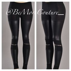 """Zip It"" Faux Leather Leggings! Avail in S/M/L! Shop Anytime! Bemorecouture.com"