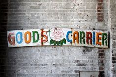 Vintage Sign Indian Delivery Truck Hand by hammerandhandimports