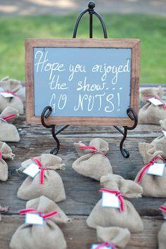 nut wedding favors