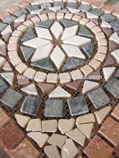21 fantastic mosaic entry way 00002 Hexagon Mosaic Tile, Mosaic Diy, Mosaic Crafts, Mosaic Projects, Marble Mosaic, Stone Mosaic, Mosaic Wall, Mosaic Glass, Mosaic Designs
