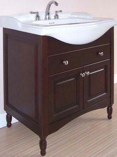 dark wood bathroom vanity | ... Extra Deep Solid Wood Bathroom Vanity in Dark Cherry Bathroom Vanities