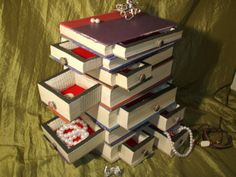 can order any series ....  Book Jewelry Box Upcycled, vintage, storage box, steampunk, necklace, bracelet